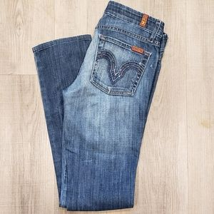 7 FOR ALL MANKIND Kate Jeans  27 W